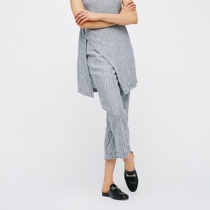 Free People Striped Elliott Linen Pants